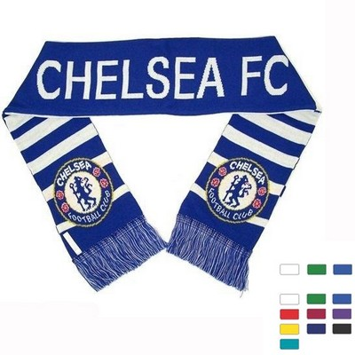 Stadium Knit Scarf Soccer Scarves With Fringe