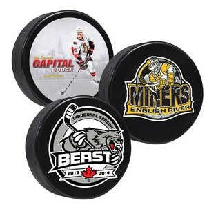 Canadian-made Hockey Pucks - 4 Color Process Digitally Printed - DOUBLE SIDE PRINTING
