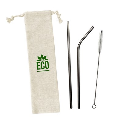 Stainless Steel Straw Set 3pcs